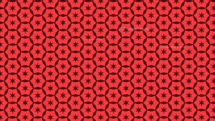 Red Seamless Stars Pattern Background