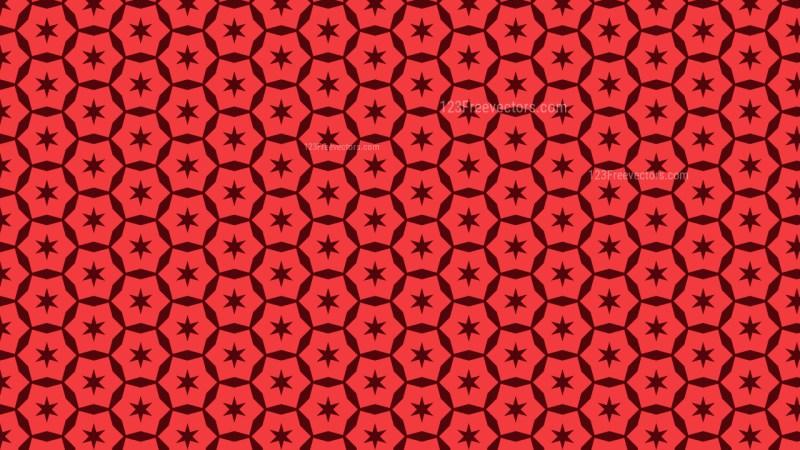 Red Seamless Stars Pattern Background