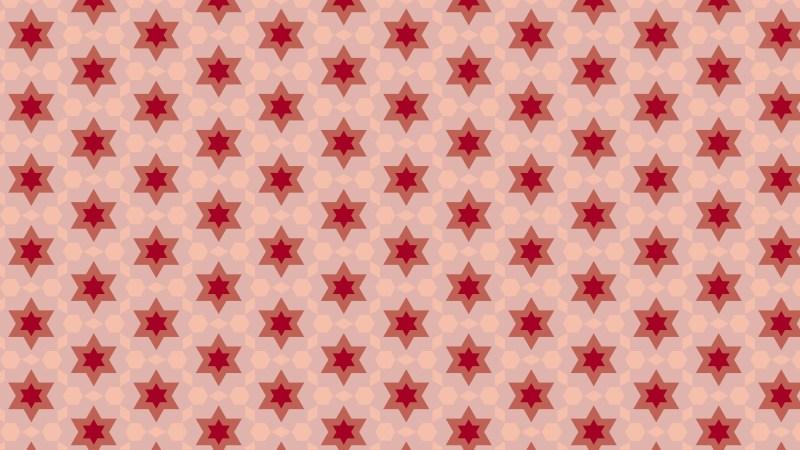 Red Seamless Stars Background Pattern
