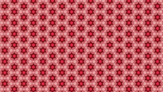Red Hexagram Pattern Vector Art