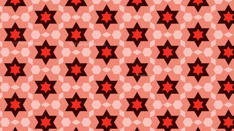 Red Six Pointed Star Pattern Graphic