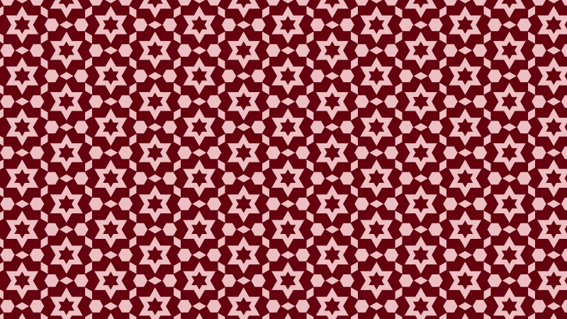 Red Seamless Star Background Pattern Image
