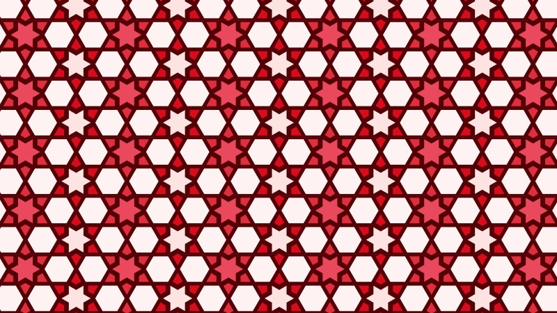 Red Stars Background Pattern Illustrator