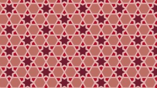 Red Seamless Stars Pattern Vector Illustration