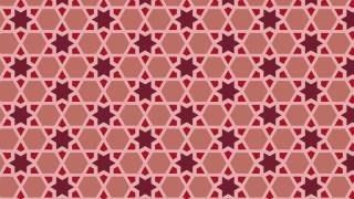 Red Seamless Stars Pattern Vector Illustration