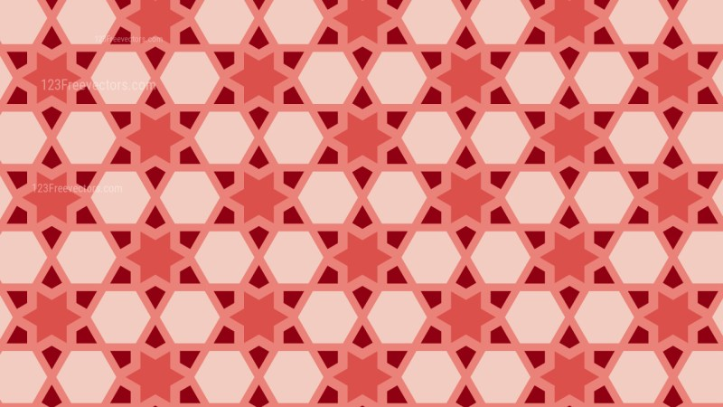 Red Seamless Stars Pattern Background Vector