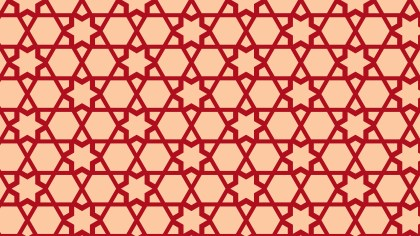 Red Seamless Stars Background Pattern Vector Art