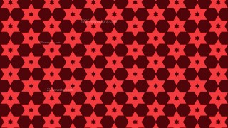 Dark Red Star Background Pattern