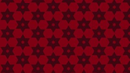 Dark Red Seamless Star Pattern