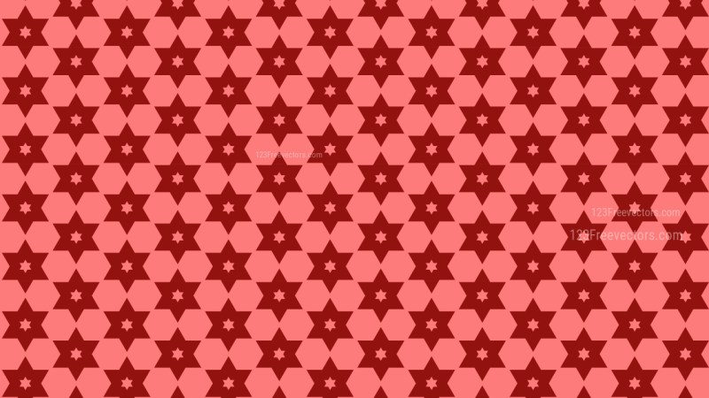 Red Seamless Star Background Pattern