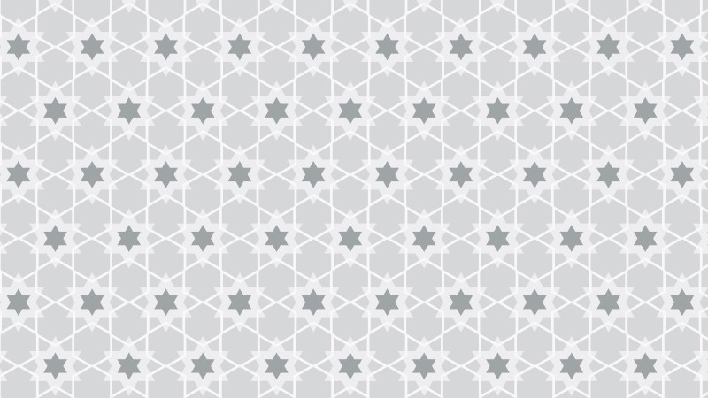 White Seamless Stars Pattern