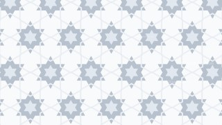 White Seamless Star Pattern Vector Image