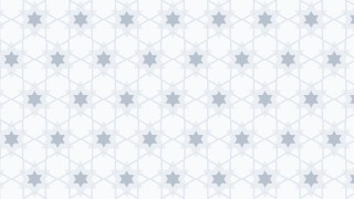 White Seamless Star Background Pattern Vector Illustration