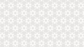 White Seamless Stars Pattern Illustration