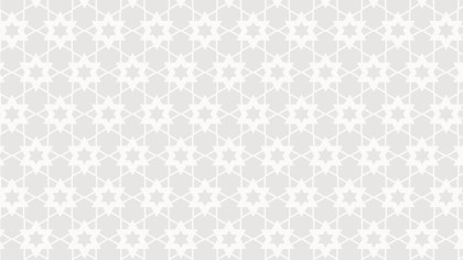 White Seamless Stars Pattern Illustration