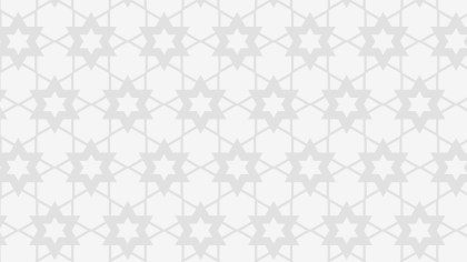 White Seamless Stars Pattern Background Design