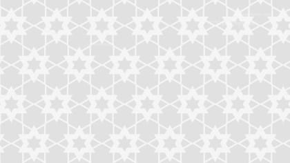 White Seamless Stars Background Pattern Image