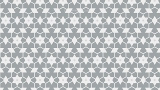 White Stars Pattern Background