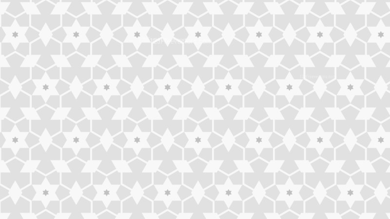 White Seamless Stars Background Pattern