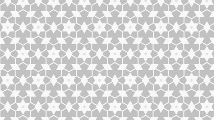 White Star Pattern Background Vector Illustration