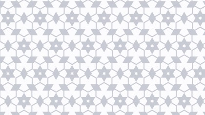 White Seamless Star Background Pattern Illustration