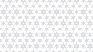 White Seamless Stars Pattern Vector Image