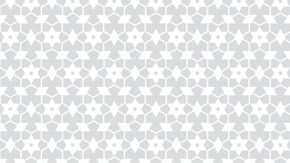 White Seamless Stars Pattern Background Illustrator