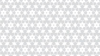 White Seamless Stars Pattern Background Illustrator