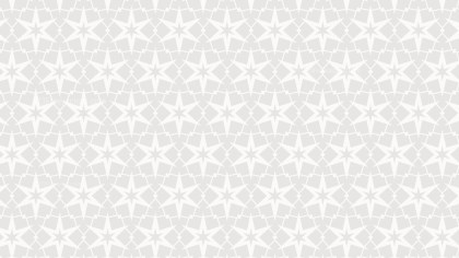 White Seamless Stars Background Pattern Vector Illustration
