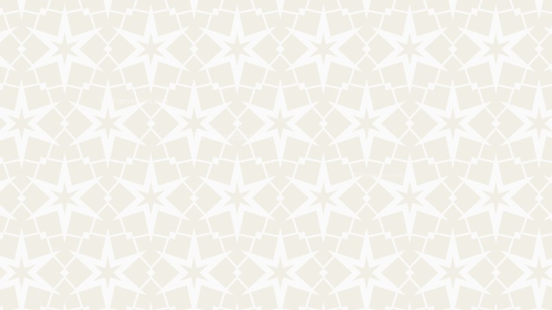 White Seamless Star Pattern