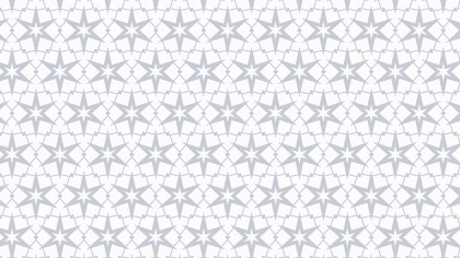 White Seamless Star Pattern Background