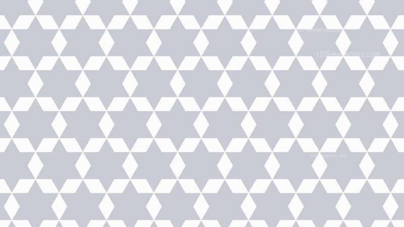 White Geometric Star Pattern