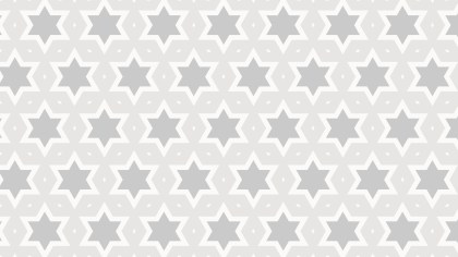 White Seamless Star Pattern Background Vector Graphic