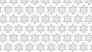 White Seamless Star Background Pattern Vector Image