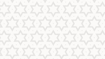 White Stars Background Pattern Vector