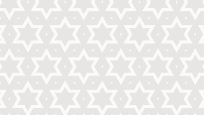 White Seamless Stars Pattern Vector Art