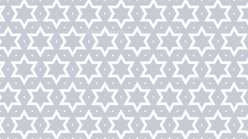 White Seamless Stars Background Pattern Illustration