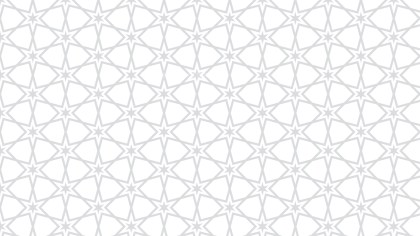 White Seamless Stars Background Pattern