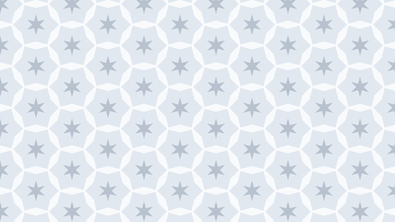 White Star Pattern Vector Graphic