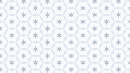 White Star Pattern Background Vector Image