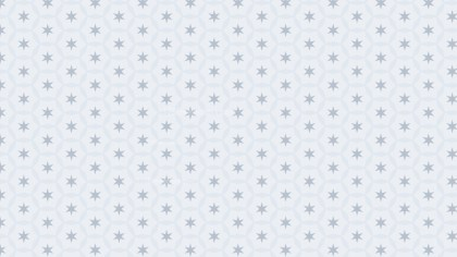 White Seamless Star Pattern Vector Illustration