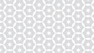 White Seamless Star Pattern Background Vector