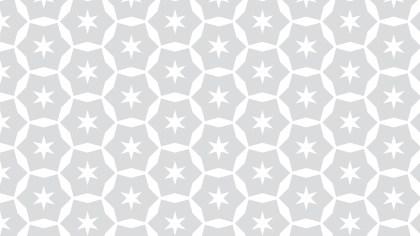 White Seamless Star Pattern Background Vector