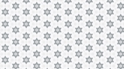 White Stars Background Pattern Design