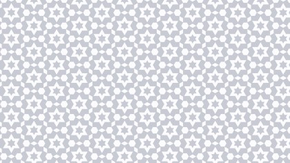 White Seamless Stars Pattern Background Vector Graphic