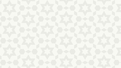White Seamless Stars Background Pattern Vector Image