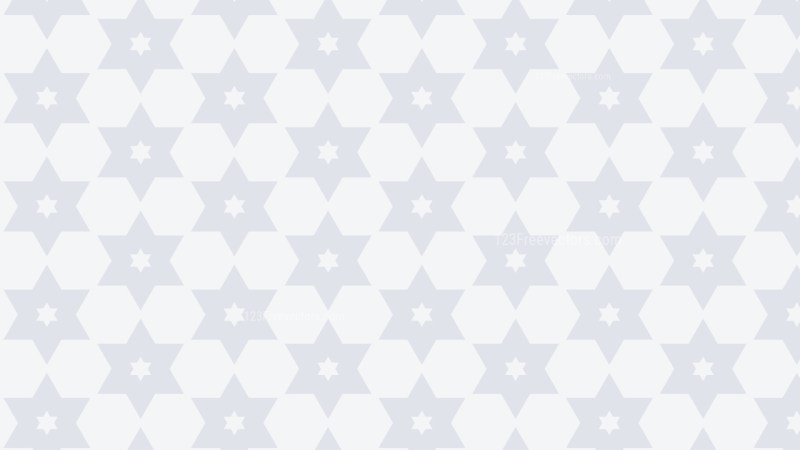 White Seamless Star Pattern Background