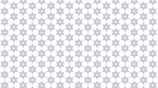 White Seamless Stars Pattern