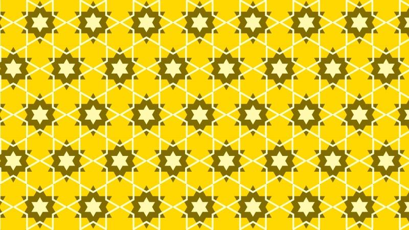 Yellow Seamless Stars Background Pattern