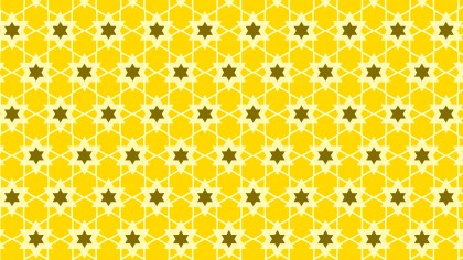 Yellow Star Pattern Vector